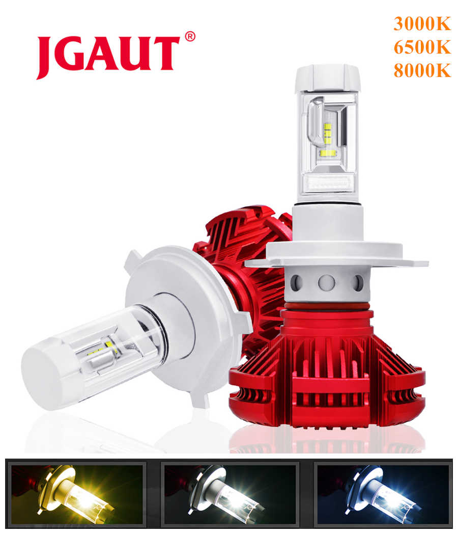 JGAUT H4 Led Light Car H1 H3 H4 Fog Bulbs Automotive Lamp X3 H11 9005 9006 ZES 16000LM Headlight 3000K 6000K 8000K Blue Yellow