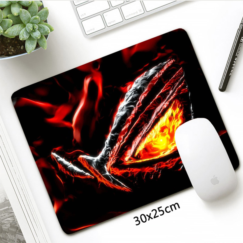 30x25cm ASUS Gaming Mouse Pad Small Size Rubber Locking Edge Office Mat PC Accessories Republic Of Gamers Mousepad
