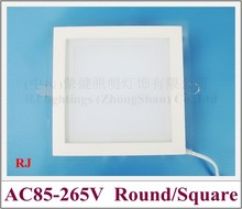 glass style square LED panel light square shape AC85-265V SMD5730LED square shape aluminum PMMA glass  6W  12W  18W