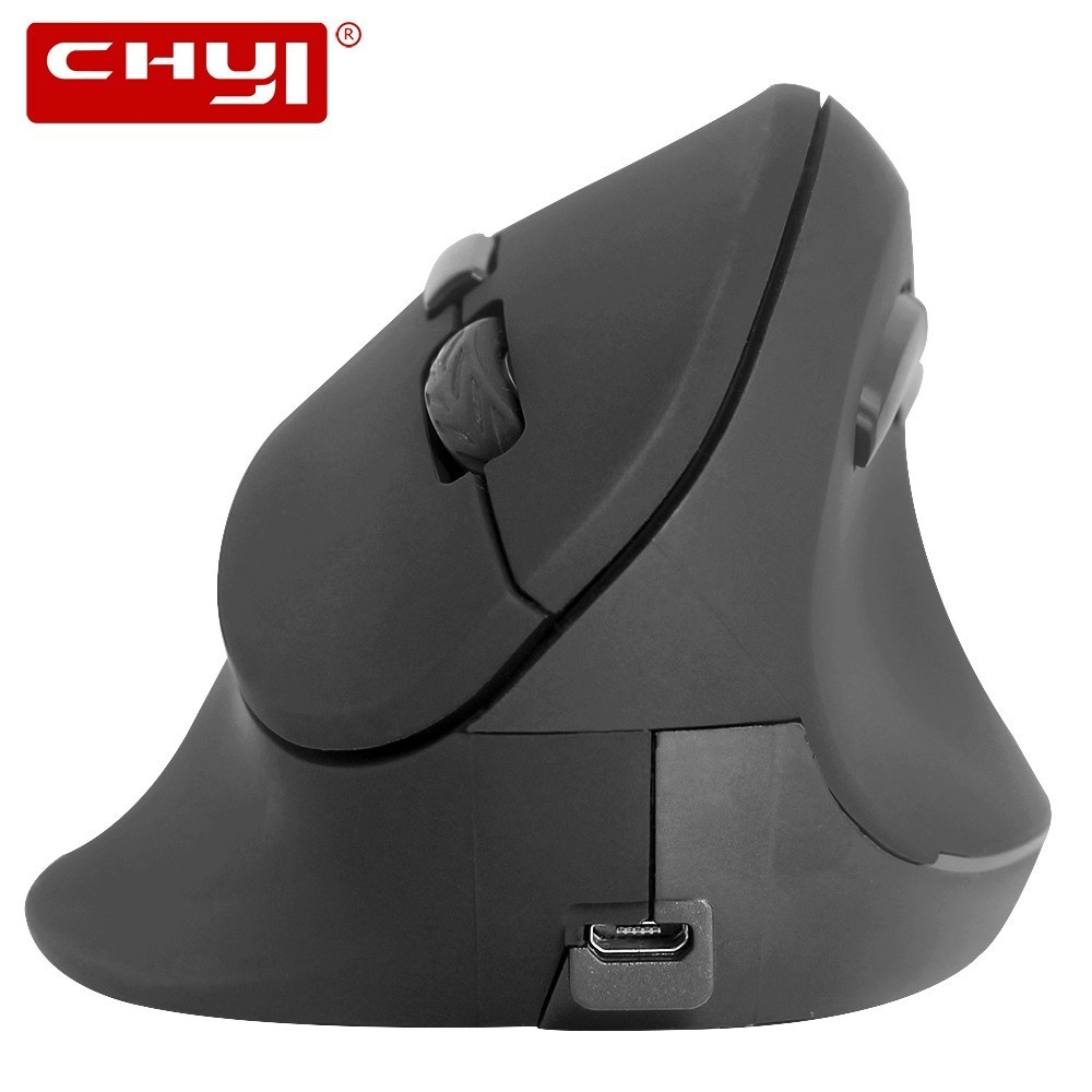 CHYI Ergonomic Vertical Mouse Wireless Computer Gaming Mice 800/1200/1600 DPI USB Optical 5D Mause Gamer With Mouse Pad For PC цена
