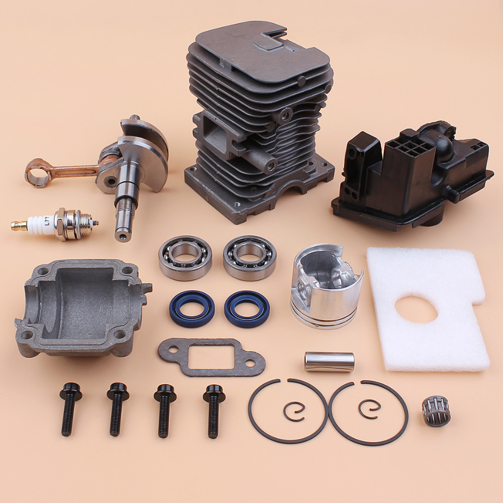 home improvement : 42mm Cylinder  amp  Piston W  Rings Kit Fits Husqvarna 340 345 Chainsaw 503 87 02 76