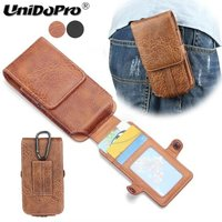 Premium PU Leather Case For IPhone X 8 7 6 6S Vertical Belt Holster Pouch Cover