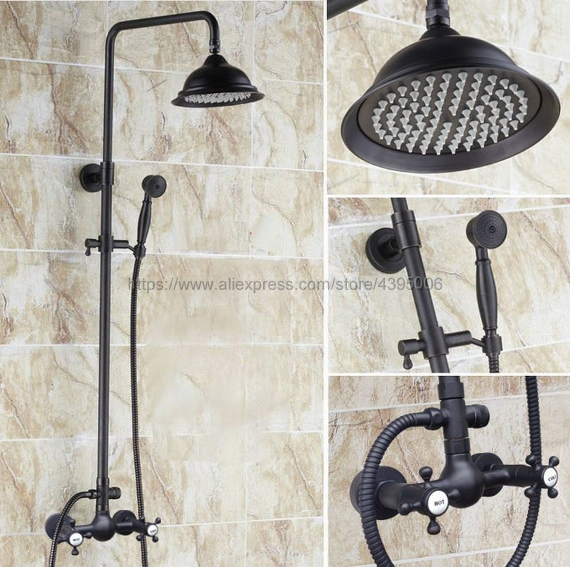 все цены на Oil Rubbed Bronze Bathroom Shower Faucet 8