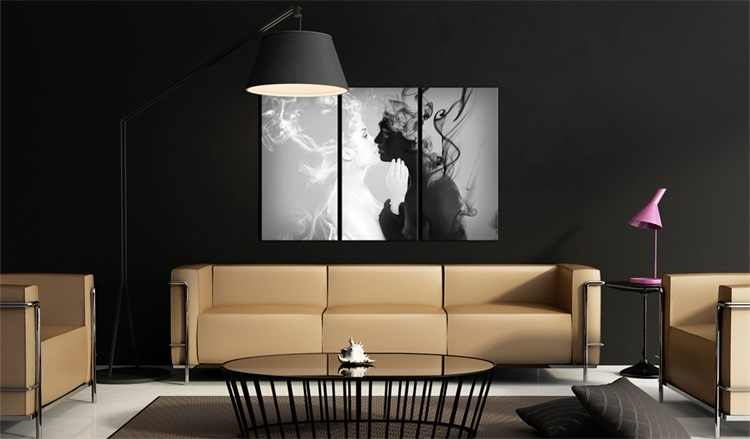 Wholesale 3 Pieces/set Abstract kiss series poster Wall Art For Wall Decor Home Decoration Picture Painting PJMT-B (162)