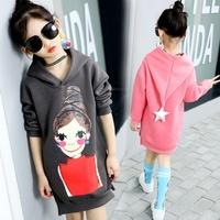 Autumn Clothes for Baby Girl Cartoon Pattern Long Sleeve Hoodie Cotton Sweatshirt Casual Toddler Outerwear Clothes Hoodies & Sweatshirts