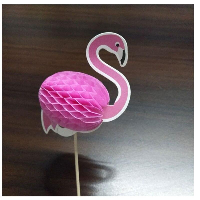 10pcs Pineapple Flamingo Fruit Toothpick Cake Toppers Birthday Wedding DecorBL