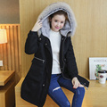 Maternity winter outerwear top loose maternity wadded jacket winter medium-long maternity clothing thickening thermal