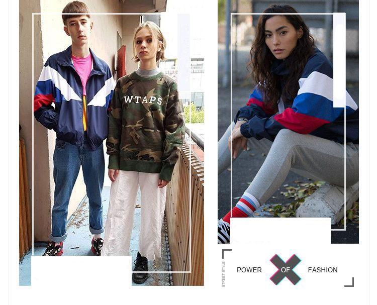 Men Jacket Gosha Rubchinskiy Classic Navy Tricolor Sport Long sleeve Windbreaker Jackets Hiphop Skateboards Couples Outwear S-XL (19)