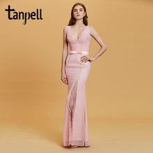 Женское вечернее кружевное платье русалка tanpell розовое с