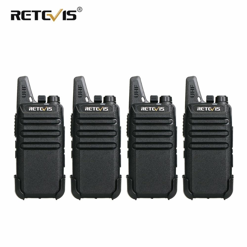 4 pz Retevis RT22 Mini Walkie Talkie Radio 2 w UHF VOX Carica USB Ricaricabile Stazione Radio A Due Vie Walkie -Talkie Ricetrasmettitore
