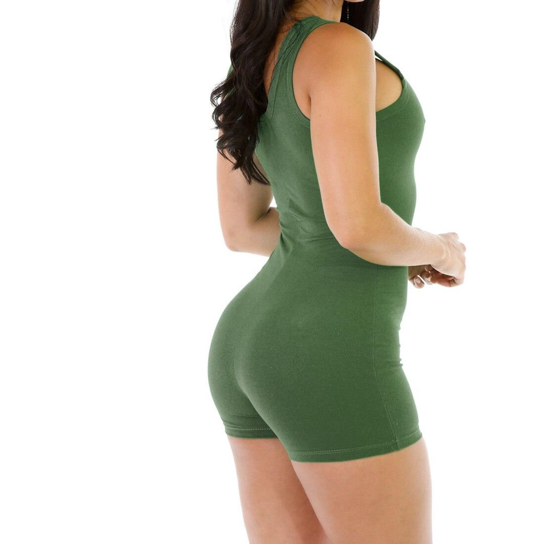 Women Summer Rompers Solid Sheath Slimming Jumpsuit Summer Short Overalls Jumpsuit Female Cotton Playsuit Plus size XL