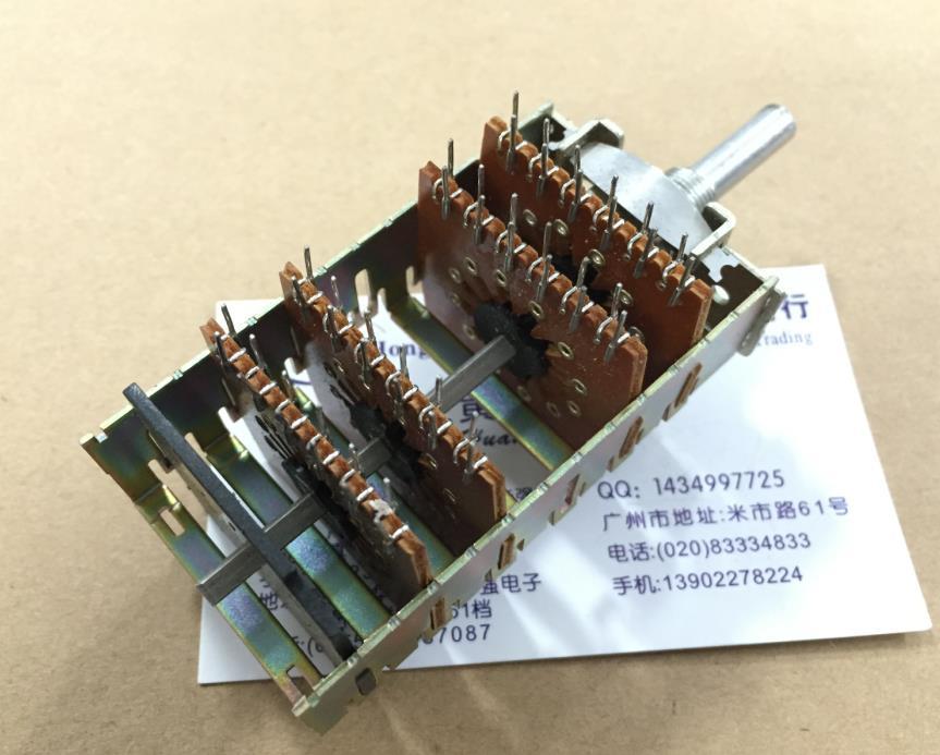 ALPS 94V 1 поворотный переключатель диапазонов 24 позиционирования 4 ножа 11 передач плюс два нейтральных смещения 11 переключения передач