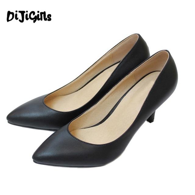 Sheepskin High Heel Shoes Women Pumps Plue Size 34-41 New 2016 Sexy Wedding Party Thin Heel Pointed Toe Women's High Heels YD48