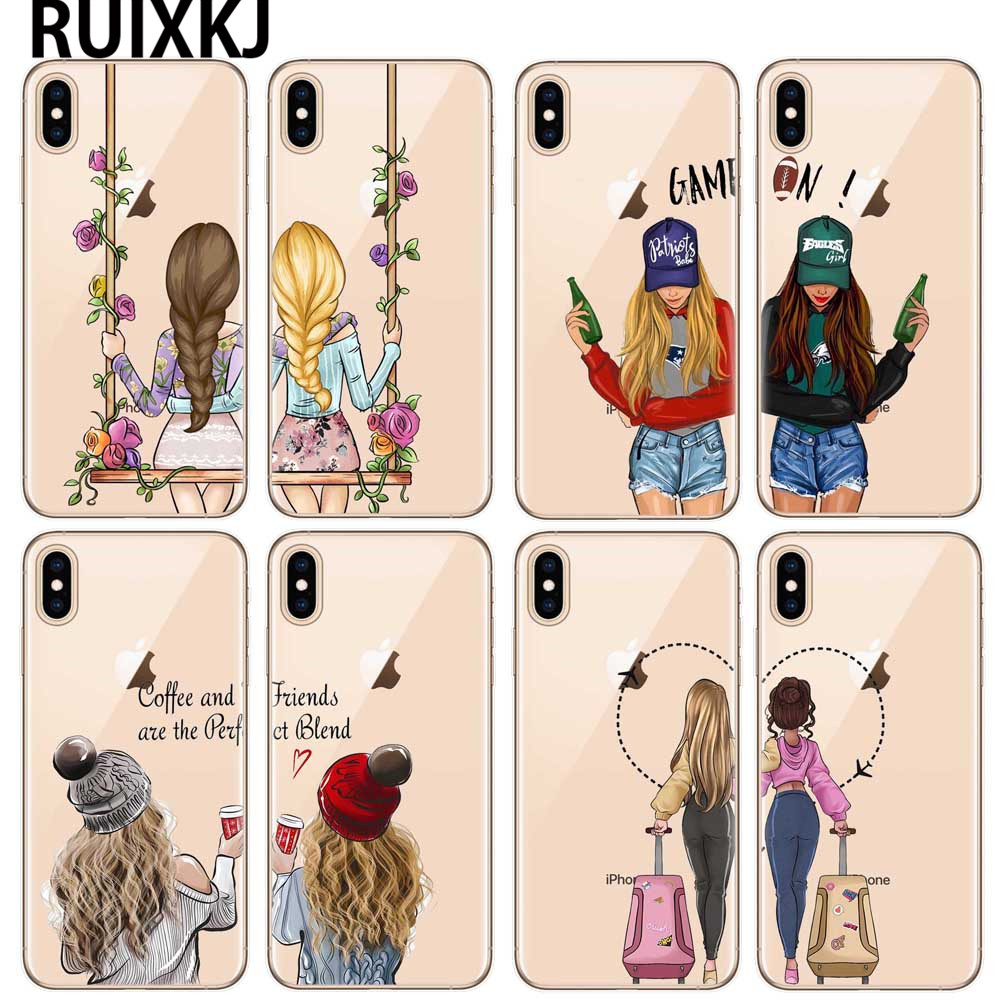 We will always be best friends <font><b>BFF</b></font> <font><b>phone</b></font> <font><b>Case</b></font> For iPhone X 10 XR XS MAX <font><b>Case</b></font> TPU Silicone Cover For iPhone SE 5S 6 6S 7 8 Plus image