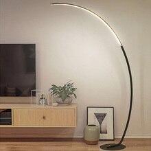 Светодиодная современная простая Напольная Лампа, стоящая лампа, художественное украшение, скандинавский стиль для гостиной, спальни, кабинета, свет