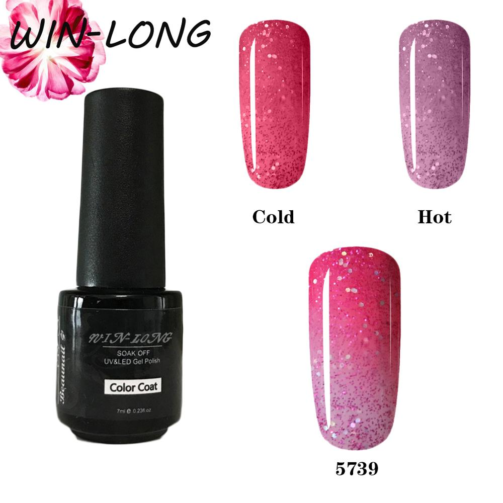 7ML New Thermal Color Change UV Gel Nail Polish Need Top Base Enamel Hybrid Varnish Semi Permanent Stamping Nail Gel