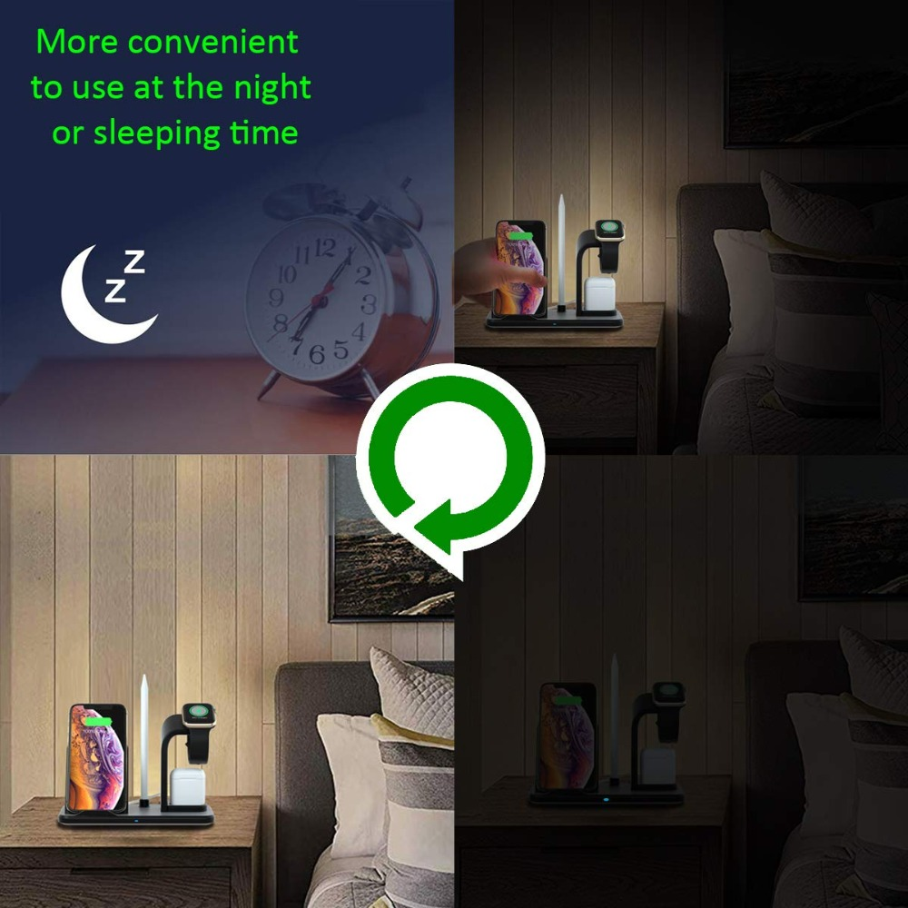 Wireless charger easy to use at night