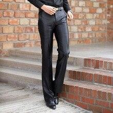 Новинка, осенняя мужская одежда в Корейском стиле, черные модные брюки для мужчин, облегающие повседневные брюки