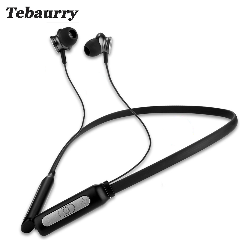 Tebaurry Neckband Bluetooth Headphone Wireless Earphone Sport Bass Headset Bluetooth Earphone Hands-free with Mic for phone you first wireless headphone bluetooth earphone sport stereo neckband bluetooth headset with micorphone kulaklik for phone