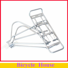 26 inch Silver Cycling Bicycle Bike Aluminum Alloy 25kg Capacity Adjustable Rear Shelves