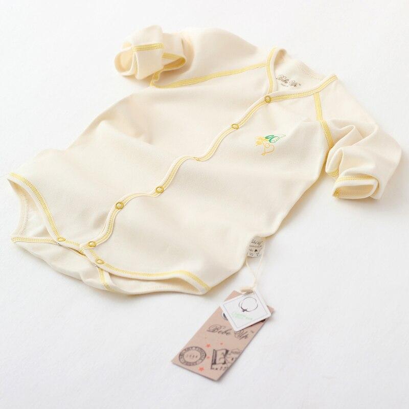 Baby Girl Boy Kläder Spädbarn Bodysuits Lång Ärmar Organisk - Babykläder - Foto 4
