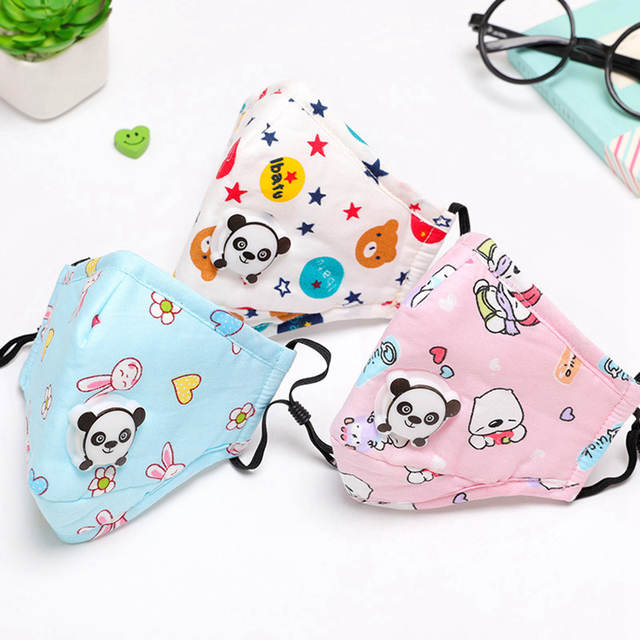 3PCS Mouth Mask Cartoon Warm Breathable Half Face Mask Mouth Cover for Children kids Girls Boys 5