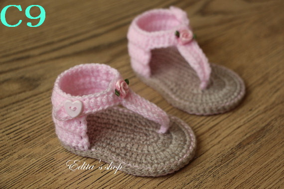 Free Shipping Handmade Baby Shoes Crochet Toddler Shoesbaby Girl