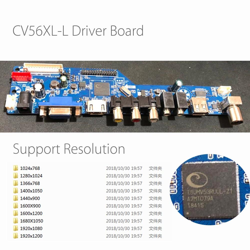 CV56XL L Universal LCD LED TV Controller Driver Board Kit TV/PC/VGA