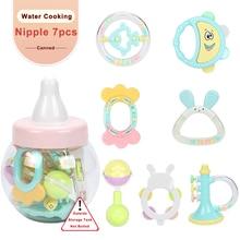 Купить с кэшбэком 7pcs Baby Toys 0-12 Months Rattles oyuncak Mobiles Rattle Bed Children Speelgoed Educational Toy Bell Newborns Beanbag For Girls