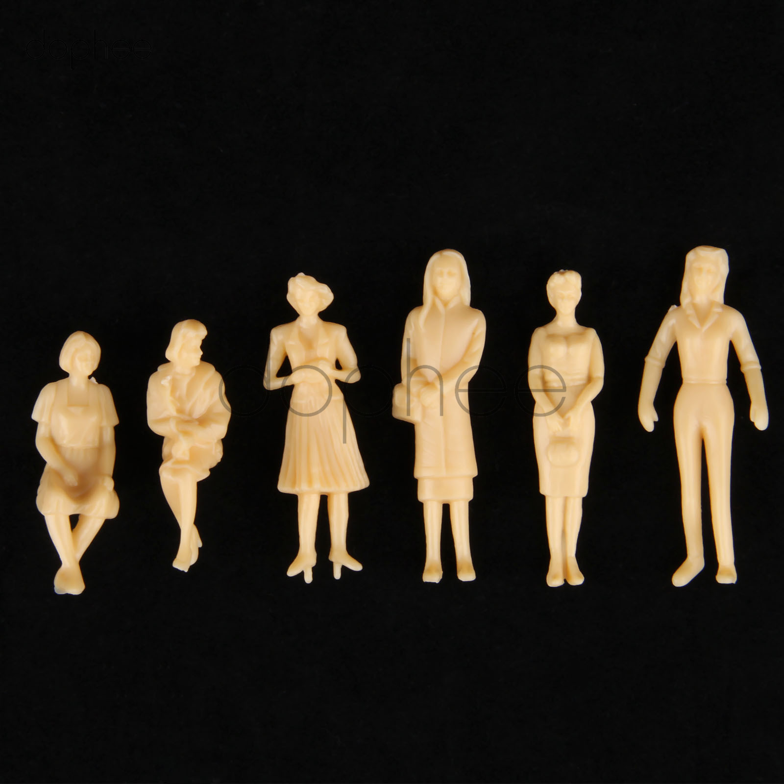 US $1 93 27% OFF|dophee 20pcs miniature Skin color Model People figures  Architectural scale HO 1:30 1:42 1:50 ABS plastic peoples 65mm 40mm 36mm-in