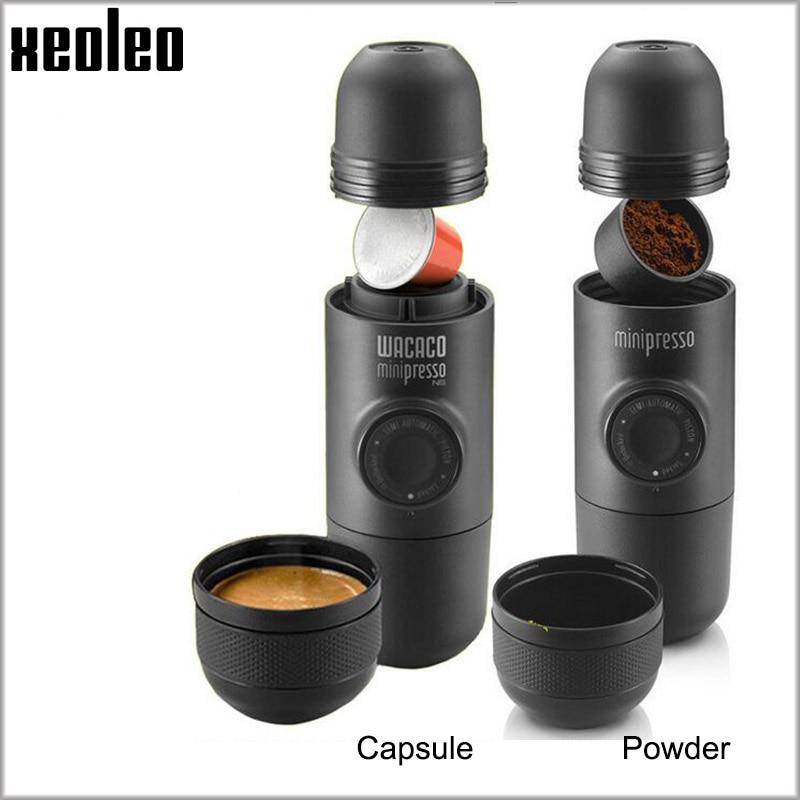 Xeoleo Minipresso Wacacoポータブル手動コーヒーメーカーエスプレッソコーヒーメーカー手動コーヒーマシンBPA無料屋外旅行トラベルマニュアルエスプレッソマシンを使用
