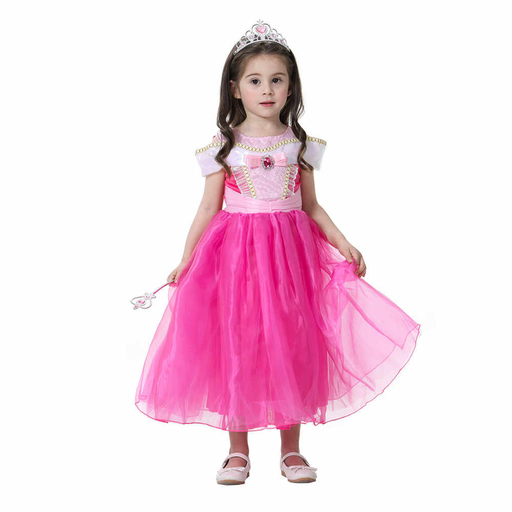 Girls Belle Dress up Princess Cosplay Costume Birthday Party Clothes Children Halloween Xmas Long Gown Cinderella Costume
