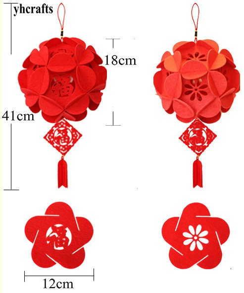 Home Decor Wind Chimes & Hanging Decorations 2pcs//lot.chinese Fu Spring Festival Felt Craft Kits,fabric Crafts.early Educational Toys.kindergarten Crafts.cny Arts And Craft Traveling