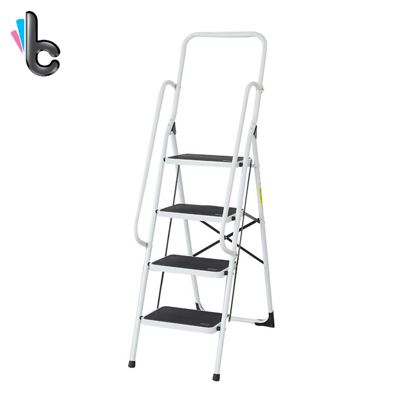 Pflichtbewusst 4 Schritt Leiter Falten Schritt Leiter Tragbare Schritt Leiter Mit Standing Plattform Handlauf Hell Und Durchscheinend Im Aussehen Wohnmöbel Küchenmöbel