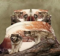 Wolf Comforter set 3D Bedding sheets duvets cover bed in a bag Queen size Full double bedspreads quilt doona Animal print 5PCS
