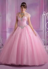 2016 Hot Pink Blue Quinceanera Dresses Ball Gown With Beads Cheap Quinceanera Gowns Sweet 16 Dress Vestidos De 15 Anos