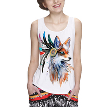 Showtly Fashion cool fox women's tank tops casual super soft tops