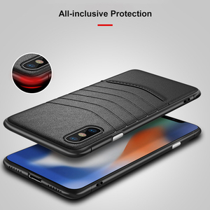 Image 3 - OTAO Leather Shockproof Case For iPhone 8 7 Plus 6 6s Bumper Back Cover For iPhone X XS MAX XR Solid Color Cases Soft Edge Coque