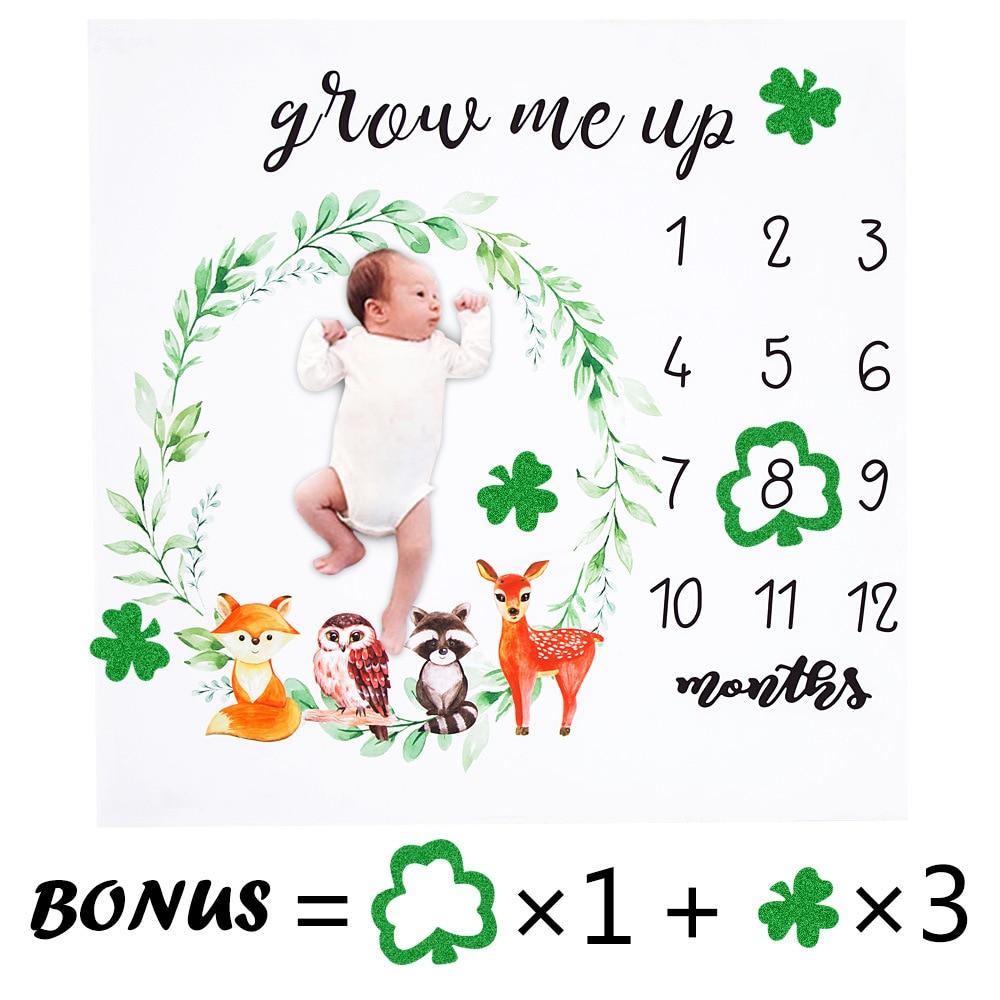 Newborn Growth Memorial Photography Props Memory Commemorate Girls Boy Blanket Growth Shooting Photo Backdrop Cloth Calendar