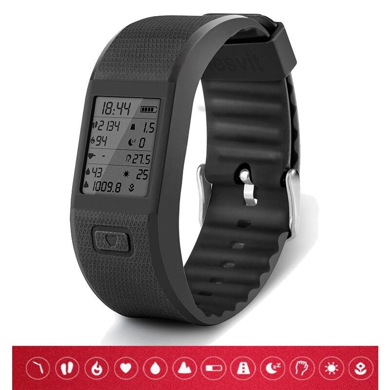 imágenes para Nueva Hesvit S3 Inteligente Pulsómetro Pulsera Inteligente Bluetooth Banda de Fitness podómetro Rastreador Deporte pulseras Para ISO Android
