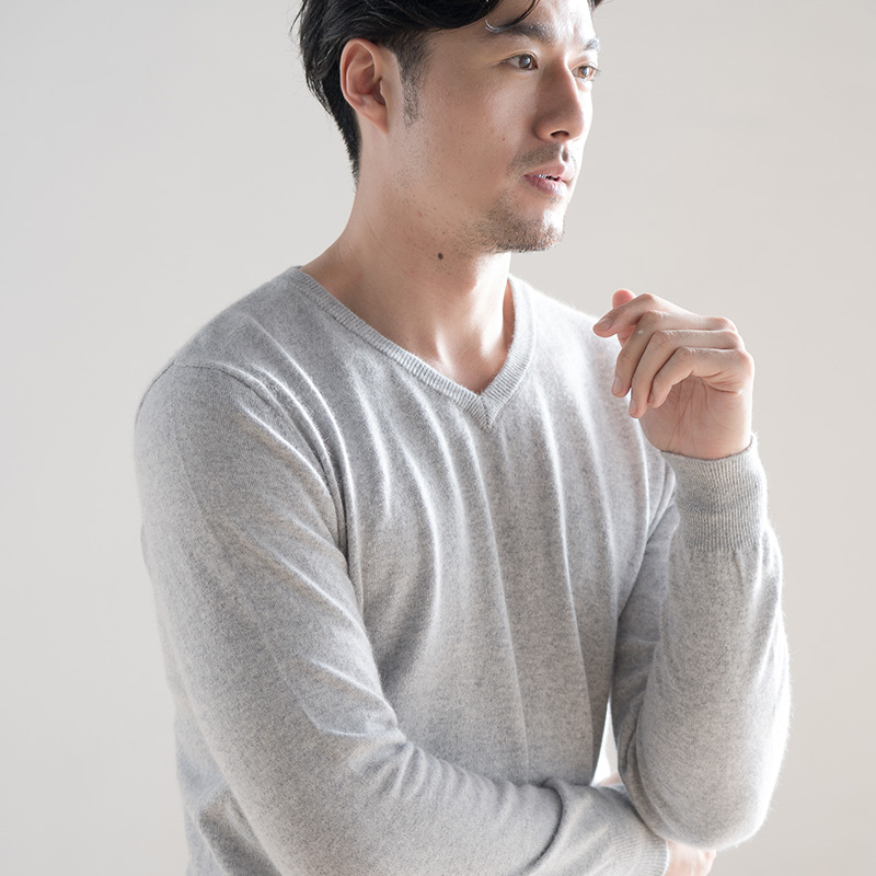 Men Sweaters V-Neck Jumpers 100% Cashmere And Wool Knitted Soft Pullovers Winter New Fashion Hot Sale Plus Size Man Sweater