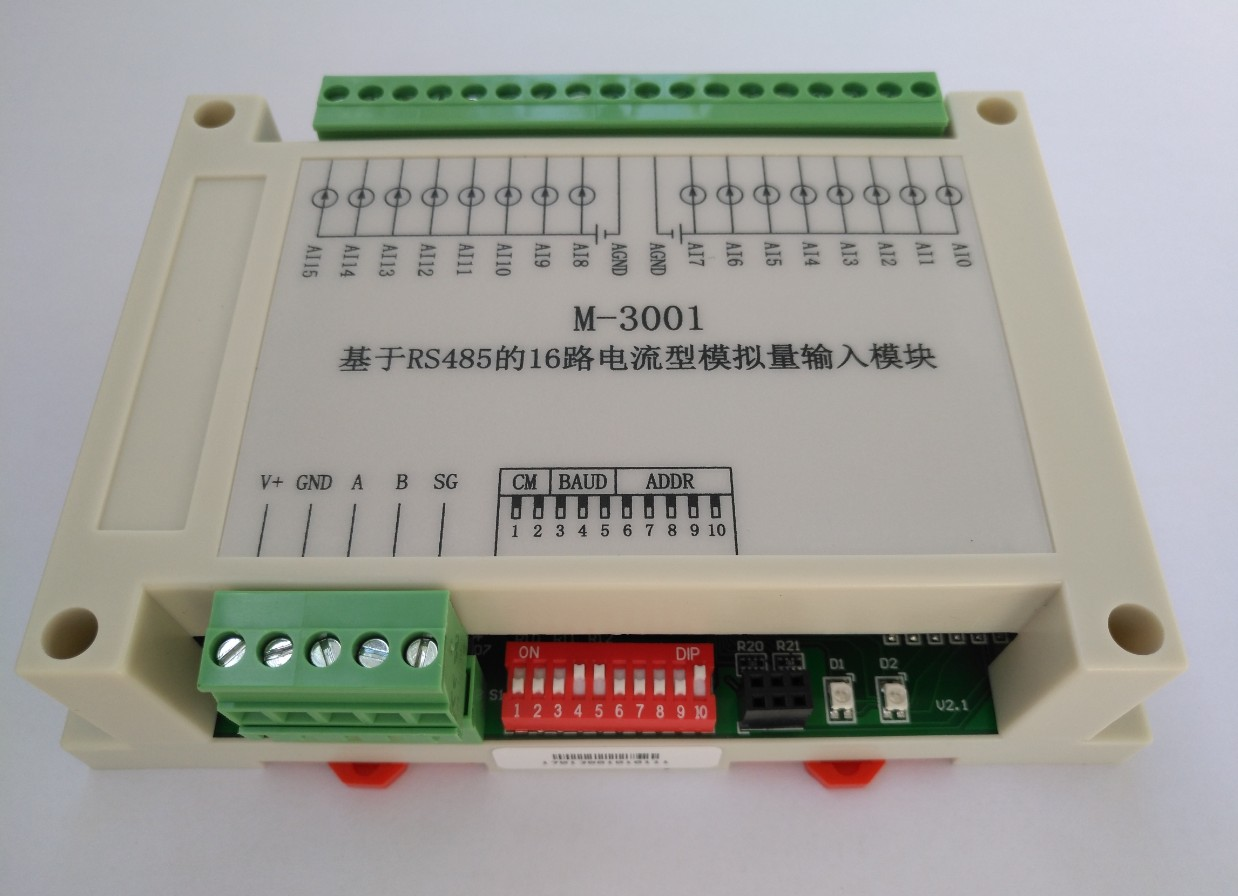 RS485 Current Acquisition Module Modbus RTU Communication Board Card 16 Channel Analog Input sht10 11 5 road multi channel temperature and humidity acquisition module communication rs485 modbus rtu