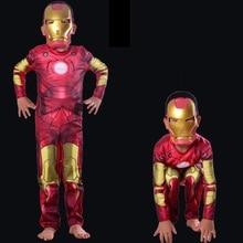 Girls boy Niños de Halloween Superhero ironman Iron Man Cosplay Niños Traje de Fiesta de Disfraces Infantiles Disfraces de Carnaval con máscara(China (Mainland))