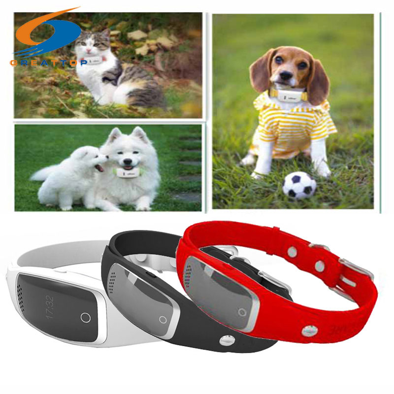 Mini Silicon Pets Collar GPS Tracker Global Locator Real Time Dog Cat GPS Collar Tracking GPS+LBS+WIFI Geofence Free APP