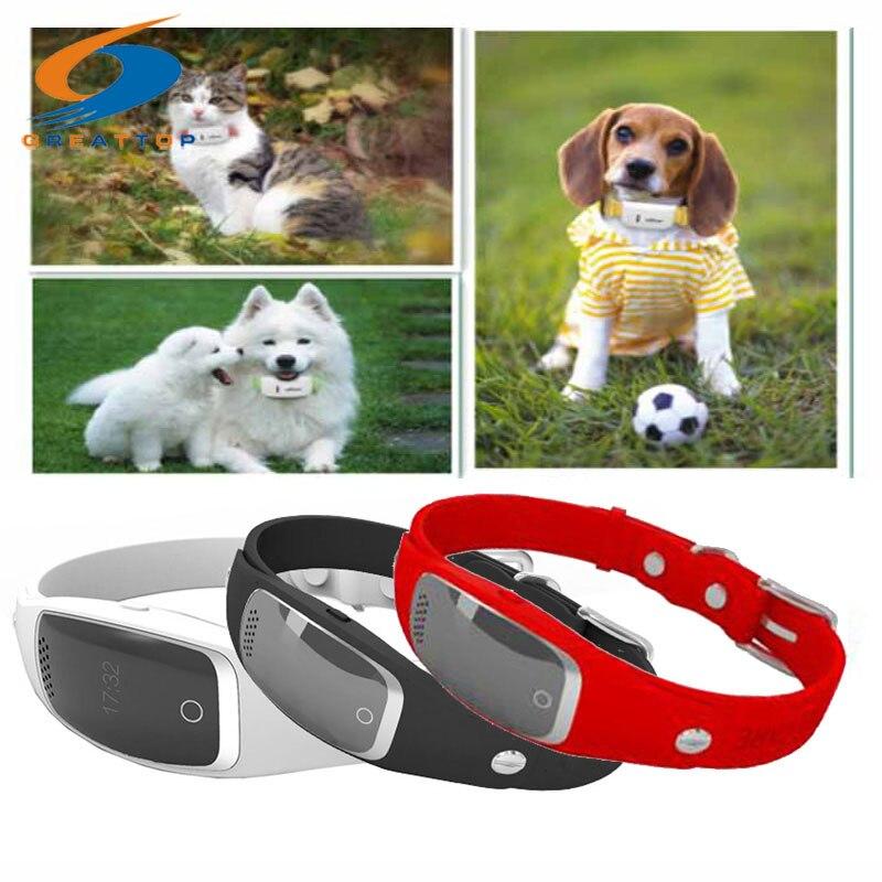 Mini silicone animaux collier GPS Tracker localisateur Global en temps réel chien chat GPS collier suivi GPS + LBS + WIFI Geofence application gratuite