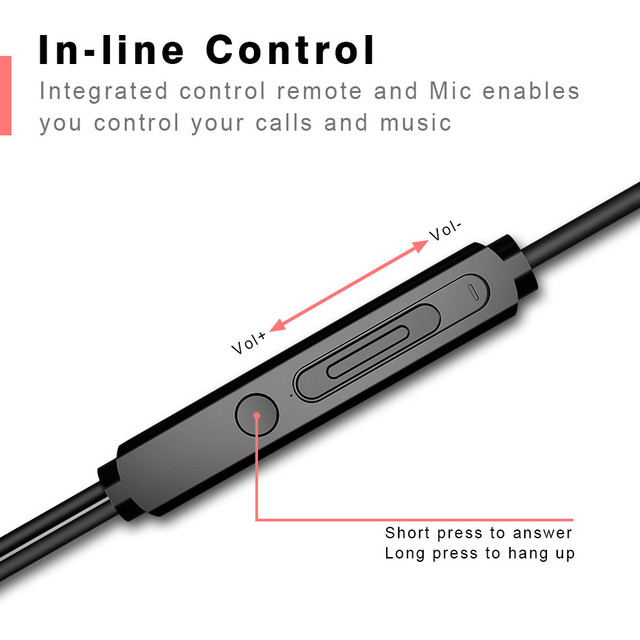 Rock In-ear Stereo Earphone Headset 3.5mm with Mic Earbuds for iPhone, SamSung,Huawei,Xiaomi and More Fone De Ouvido