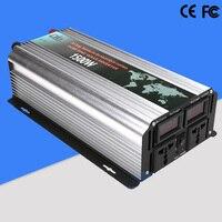 Чистая синусоида Инвертор 1500 Вт солнечный автомобиль Мощность преобразователь инвертор 12 В 220 В автомобиля Зарядное устройство DC 12 в/24 В к AC