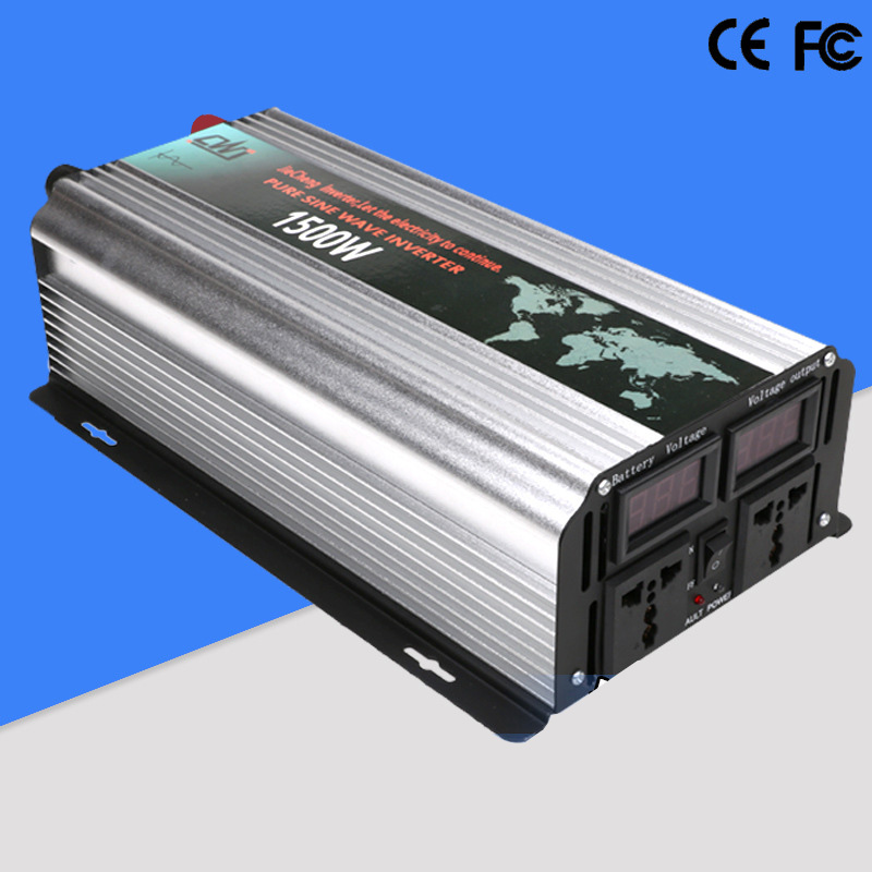 цена на Pure Sine Wave Inverter 1500W Solar Car Power Inverter Converter inverter 12v 220v Vehicle Charger DC 12V/24V To AC 110V/220V