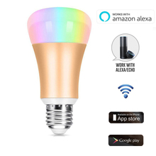 ACEMAX Smart WIFI RGB LED Light Bulb Works with Alexa Google Assistant No Hub Required with App Control Timer IFTTT Supporting