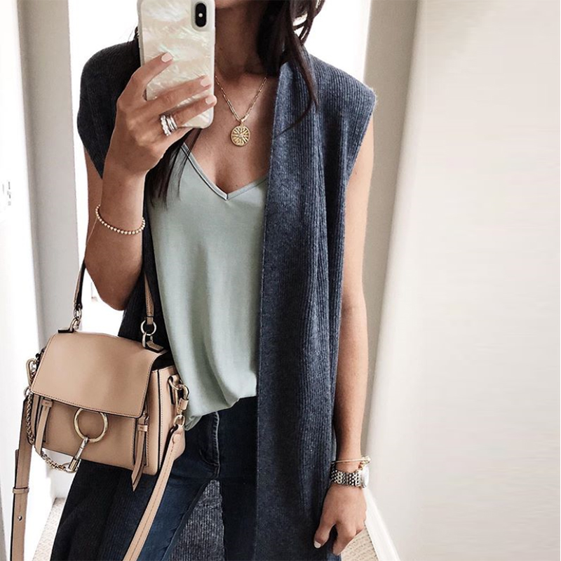 Women Cardigan 2018 Autumn Women Coat Sleeveless Jacket Office Lady Solid Vest Knitted Cardigan Female Casual Waistcoat Sweaters